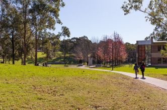 Shot of campus scenery and buildings
