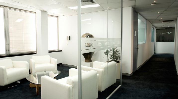 The waiting room in reception