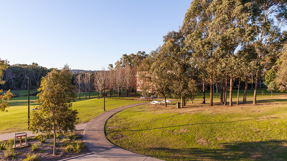 Shot of MGSM campus buildings and scenery
